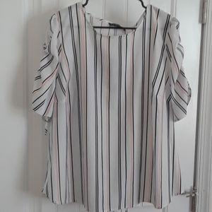 NWT Eloquii Striped Blouse